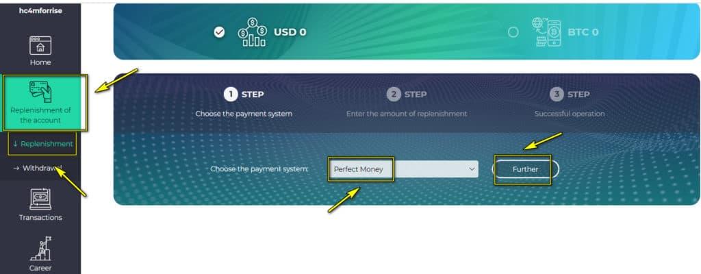 forrise add funds 1 1024x400 - [SCAM] Forrise Review - HYIP: Giới thiệu nền tảng đầu tư dài hạn forrise.com