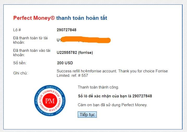payment proof forries - [SCAM] Forrise Review - HYIP: Giới thiệu nền tảng đầu tư dài hạn forrise.com
