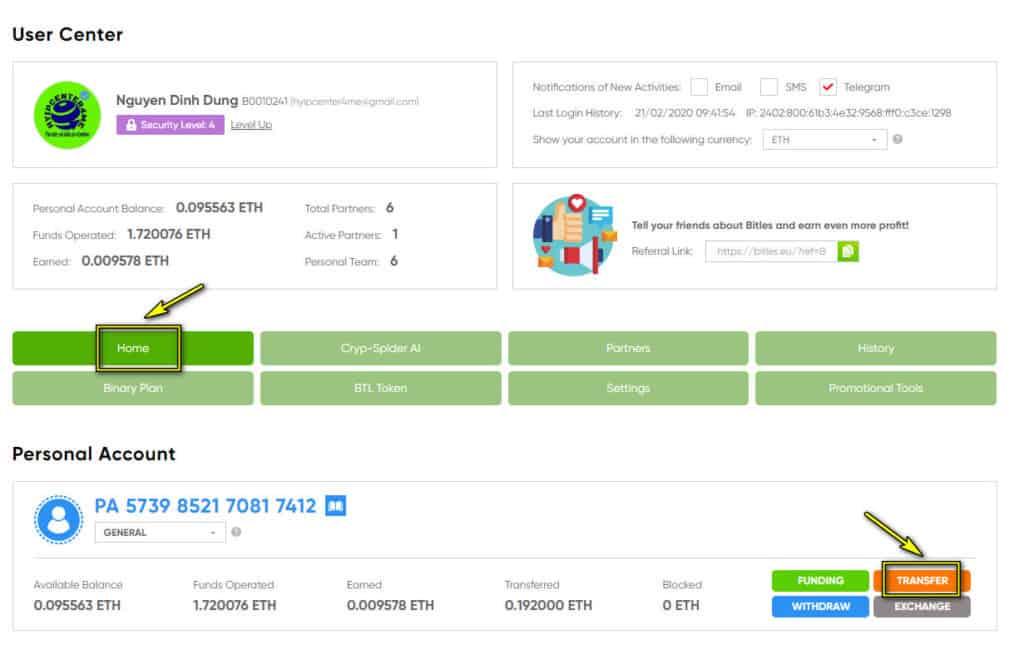 bit less transfer 1 1024x645 - [STOP] Bitles Review: Dự án khủng 2020 với hệ sinh thái đầy đủ Bot AI, Token BTL, Giáo dục, Shop, trả thưởng hấp dẫn, lợi nhuận 30%/ tháng. Huyền thoại đã quay lại?