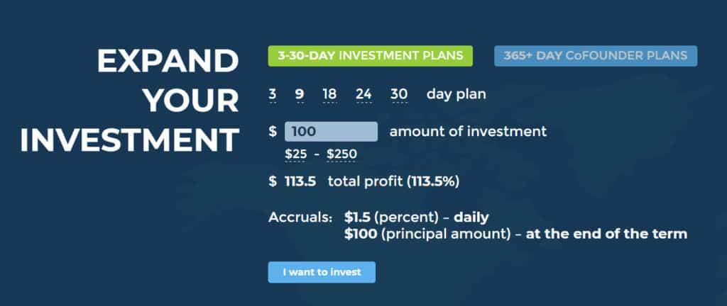 hex land investment plans 1024x432 - [SCAM] Hex Land Review - HYIP: Lợi nhuận 1.5% hàng ngày trong 9 ngày, hoàn gốc cuối chu kì