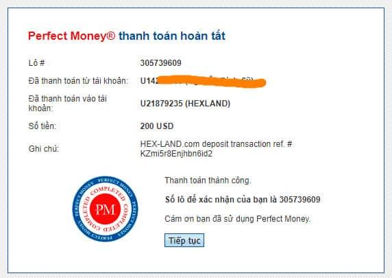hl payment proof - [SCAM] Hex Land Review - HYIP: Lợi nhuận 1.5% hàng ngày trong 9 ngày, hoàn gốc cuối chu kì
