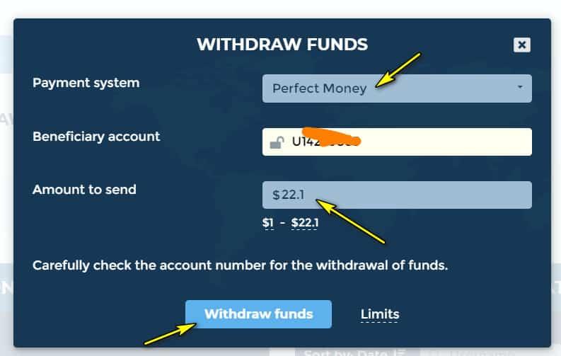 hl withdraw - [SCAM] Hex Land Review - HYIP: Lợi nhuận 1.5% hàng ngày trong 9 ngày, hoàn gốc cuối chu kì