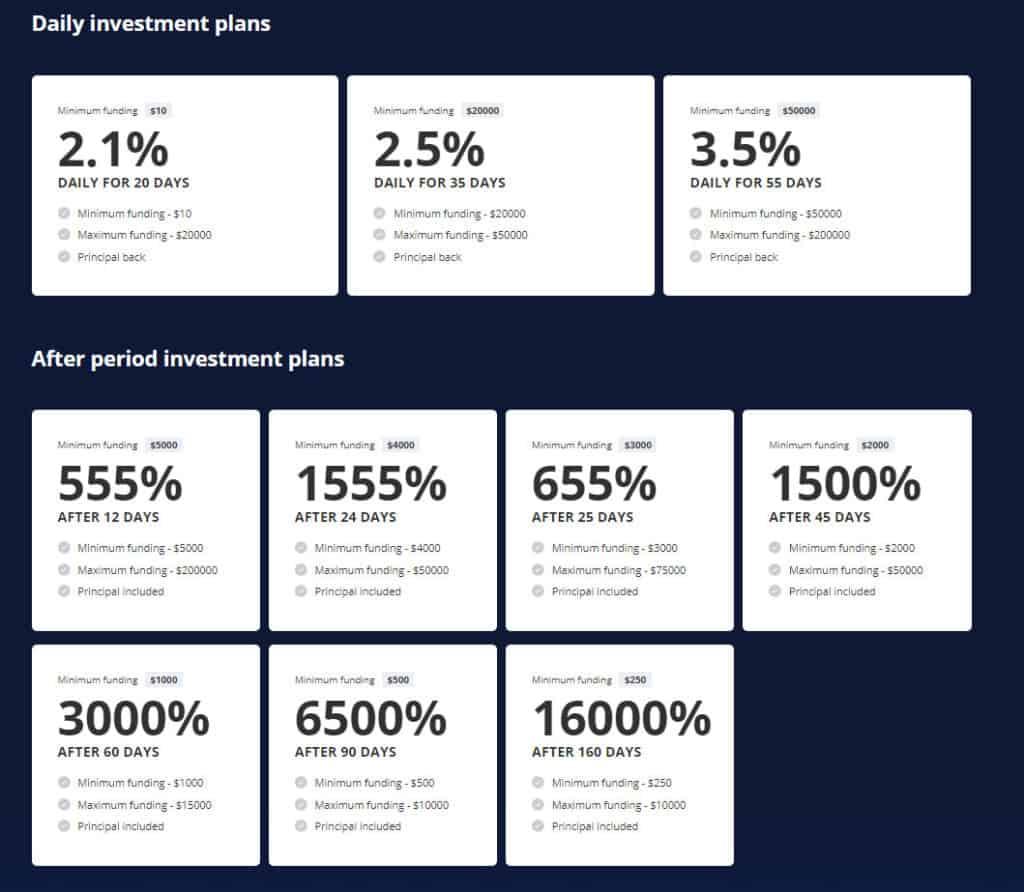 auruminvest investment plan 1024x892 - AurumInvest Review - HYIP: Lợi nhuận 2.1% hàng ngày trong 20 ngày!