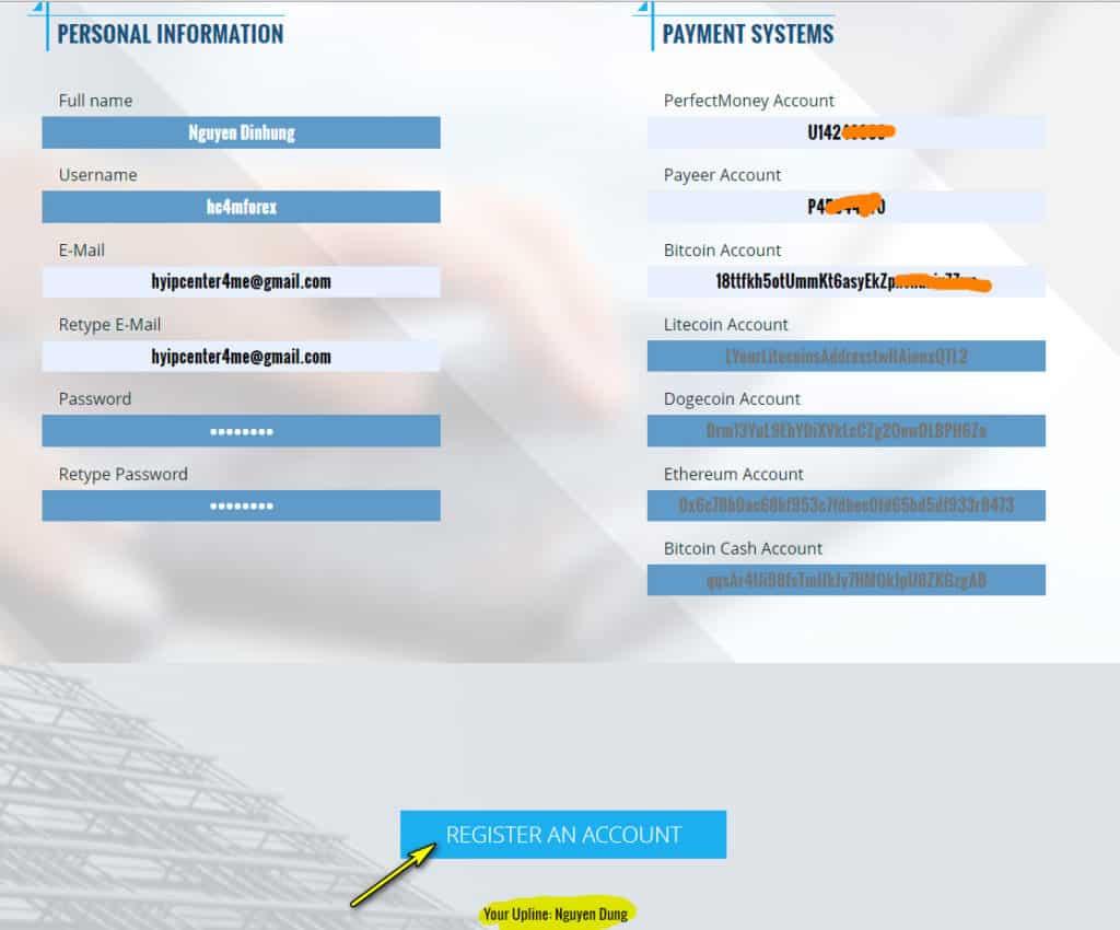forex fly register account 1024x850 - [SCAM] ForexFly Review - HYIP: Lợi nhuận 1.7% hàng ngày trong 20 ngày làm việc!