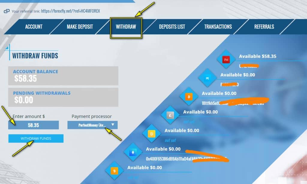 forex fly withdraw 1024x616 - [SCAM] ForexFly Review - HYIP: Lợi nhuận 1.7% hàng ngày trong 20 ngày làm việc!