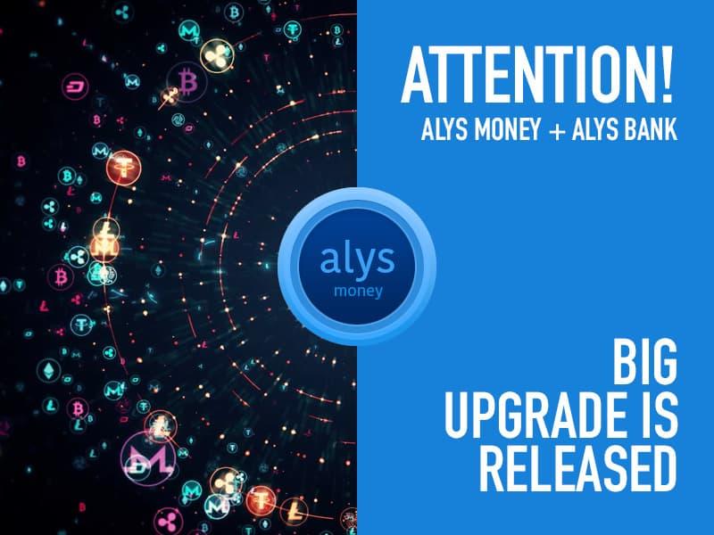 alys token - AlysDax News: Bản cập nhật lớn ra mắt ALYS Money và ALYS Bank!