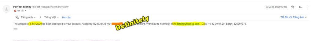 definitelyfinance payment 1024x136 - [SCAM] Definitely Finance Review - HYIP: Lợi nhuận 2.1% mỗi ngày trong 20 ngày!