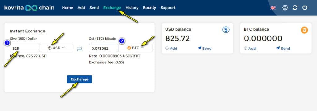 kovrita chain exchange 1024x359 - [SCAM] Kovrita: Dự án đến từ Quản trị viên huyền thoại, lãi trả theo giờ!