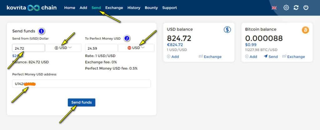 kovrita chain withdraw 1024x416 - [SCAM] Kovrita: Dự án đến từ Quản trị viên huyền thoại, lãi trả theo giờ!
