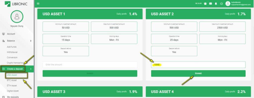 libronic deposit 1 1024x397 - [SCAM] Libronic là gì? Có nên đầu tư vào dự án hay không?