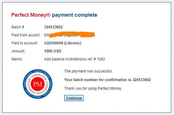 libronic payment proof - [SCAM] Libronic là gì? Có nên đầu tư vào dự án hay không?