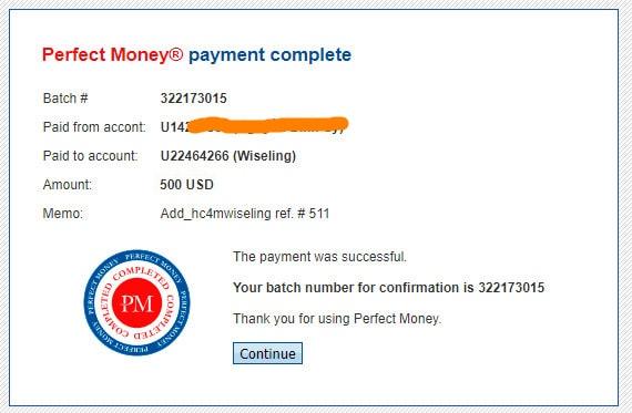 wiseling proof payment of deposit - [SCAM - DỪNG ĐẦU TƯ] Wiseling là gì? Hướng dẫn đầu tư Wiseling với lợi nhuận hấp dẫn từ 0.8% mỗi ngày!
