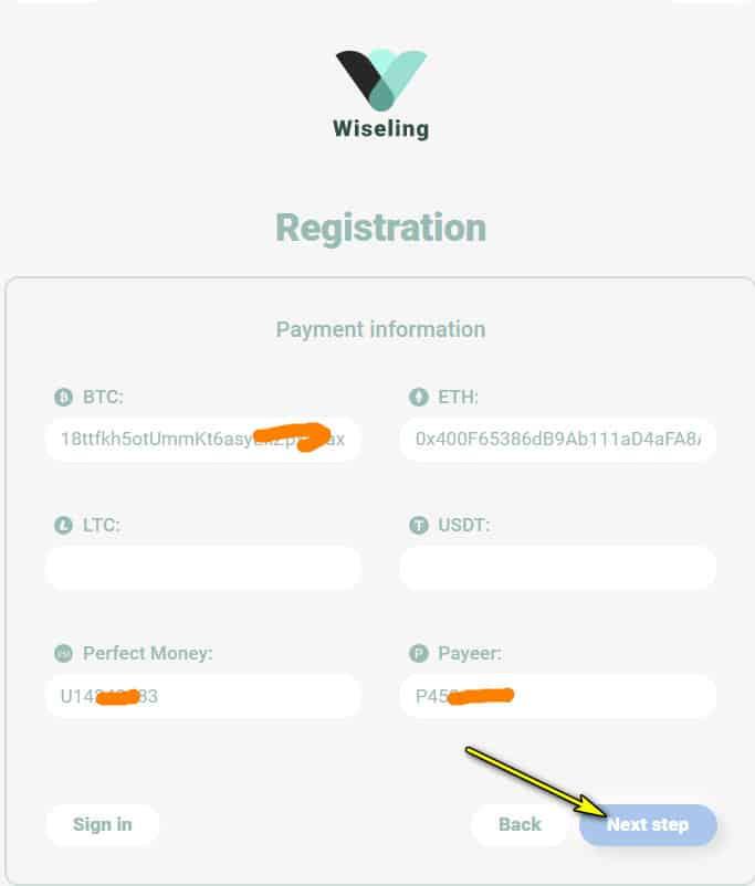 wiseling register account 3 - [SCAM - DỪNG ĐẦU TƯ] Wiseling là gì? Hướng dẫn đầu tư Wiseling với lợi nhuận hấp dẫn từ 0.8% mỗi ngày!