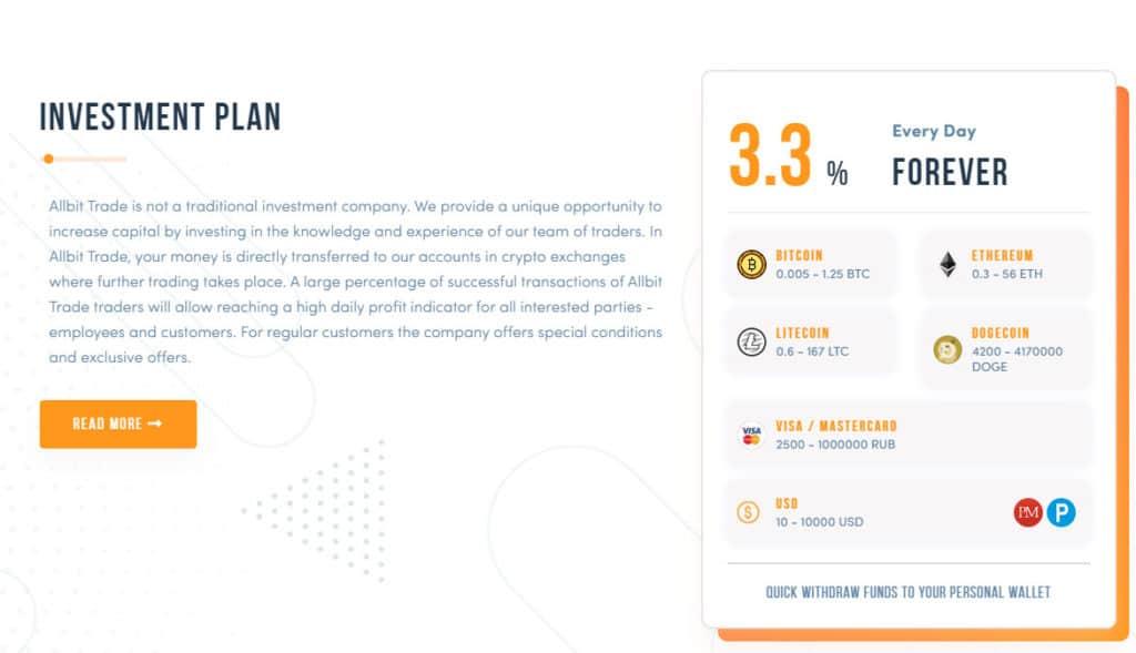 allbit trade investment plans 1024x589 - [SCAM] Allbit Trade Review - HYIP: Lợi nhuận 3.3% mỗi ngày, nhận mãi mãi!