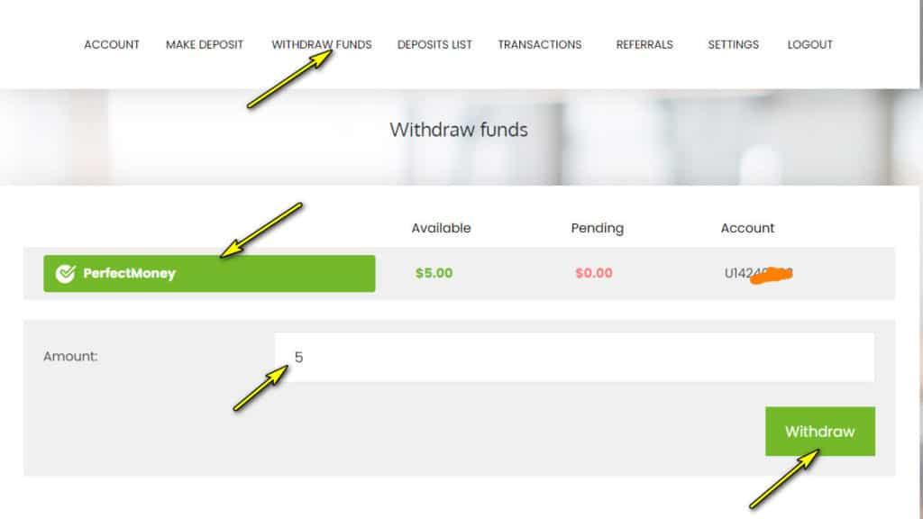 behodl withdraw 1024x576 - [SCAM] Behodl Review - HYIP: Lợi nhuận 2.5%/ ngày trong 3 ngày!
