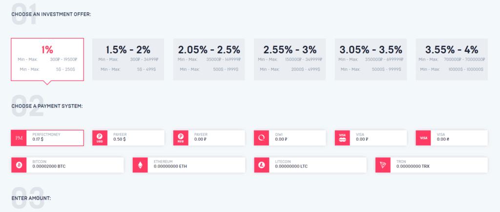 niron shopping investment plans 1024x434 - [SCAM] Niron Shopping: Dự án mua sắm bí ẩn, lợi nhuận từ 1.5% mỗi ngày!