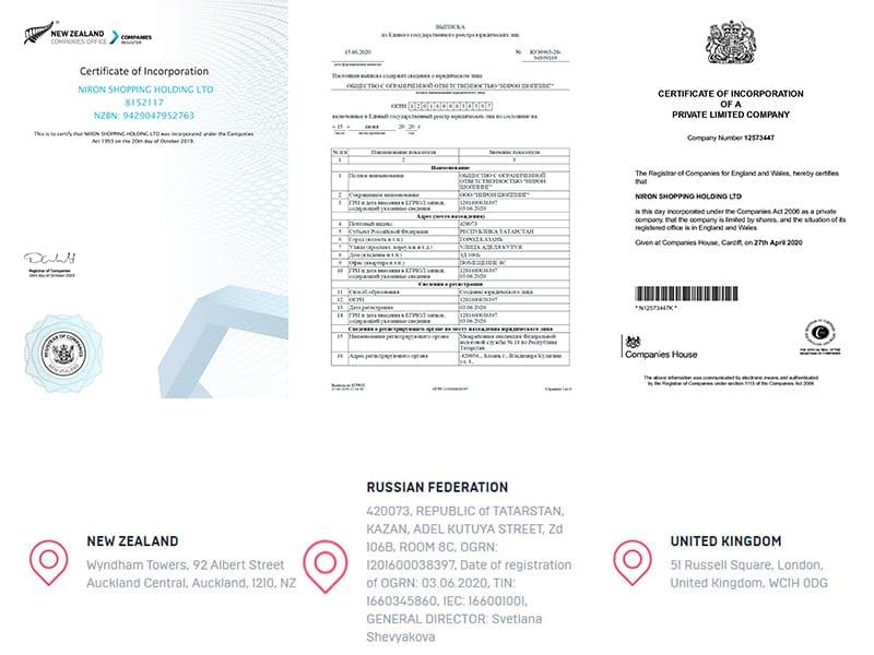 nironshopping license - [SCAM] Niron Shopping: Dự án mua sắm bí ẩn, lợi nhuận từ 1.5% mỗi ngày!