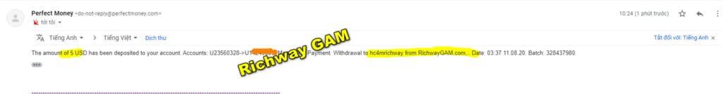 richwayagame payment 1024x134 - [SCAM] Richway GAM Review - HYIP: Lợi nhuận từ 2.1% mỗi ngày, cho rút vốn bất kì!
