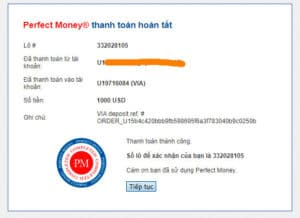 via proof deposit 1 300x218 - [SCAM - DỪNG ĐẦU TƯ] VIA: Dự án đầu tư hấp dẫn, lợi nhuận lên tới 3%/ ngày!