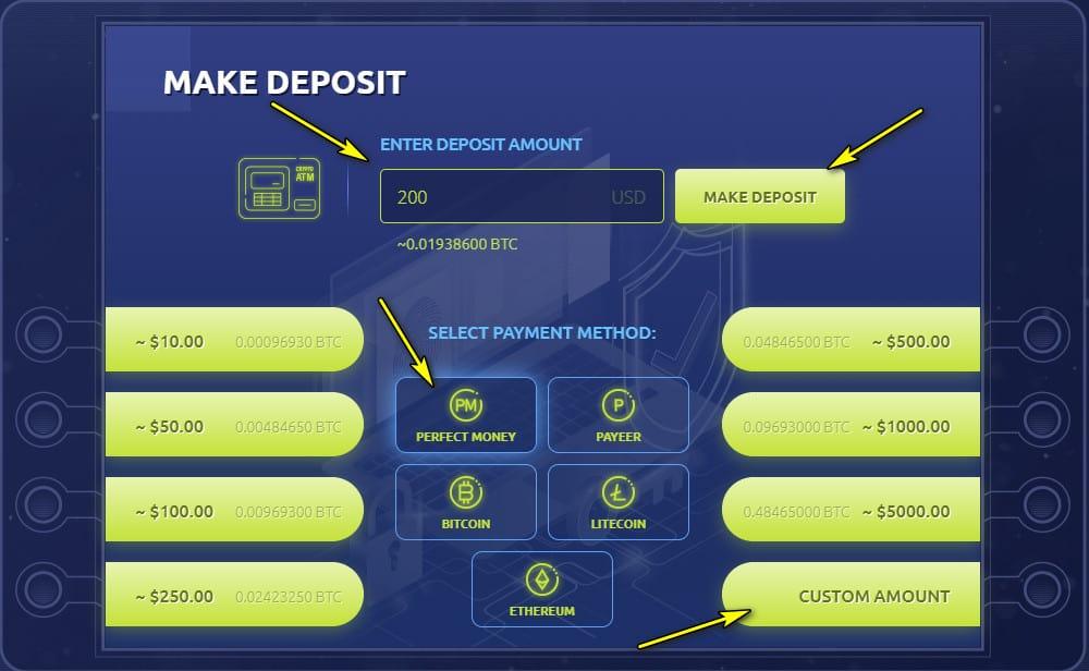 bit atm register deposit 1 - [SCAM] BIT-ATM: Dự án đến từ Quản trị viên uy tín, lợi nhuận 3%/ngày và mãi mãi!