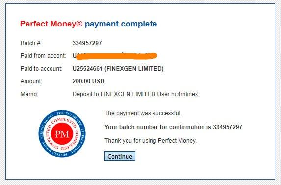 finexgen payment proof - [SCAM] Finexgen: Lợi nhuận 4% hàng ngày và mãi mãi!