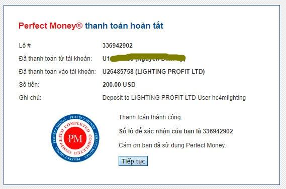 lighting profit payment proof - [SCAM] Lighting Profit: Lợi nhuận 1%/ ngày trong 11 ngày làm việc!