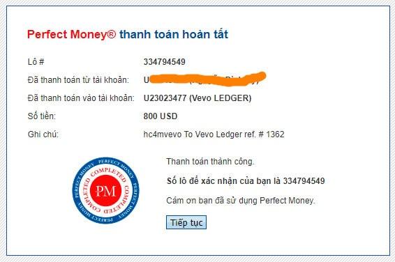 vevo ledger payment proof - [SCAM] Vevo Ledger: Lợi nhuận 1.2% hàng ngày trong 15 ngày làm việc!