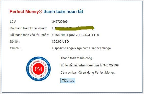 angelic payment proof - [SCAM - DỪNG ĐẦU TƯ] Angelic Age: Dự án đến từ Quản trị viên uy tín, lợi nhuận lên tới 4%/ngày và mãi mãi!