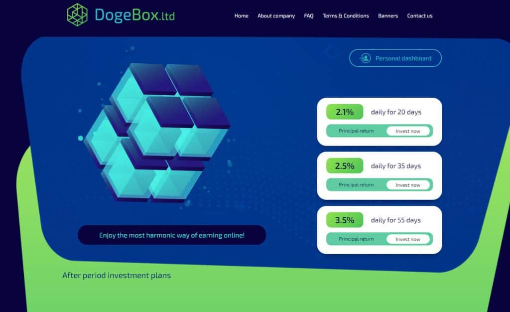 dogebox reivew 1024x626 - HC4M Club: Báo cáo HYIP tổng hợp tuần số W.44/20 từ ngày 26/10 đến 01/11/2020
