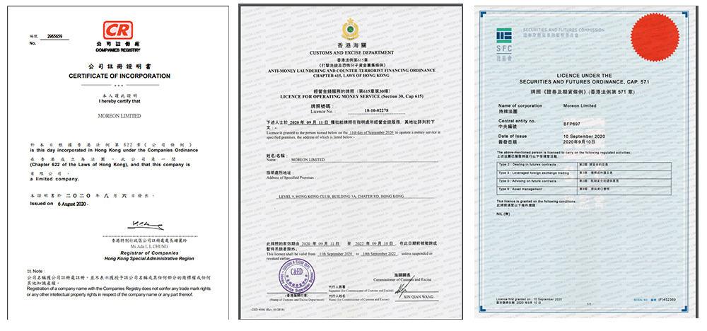 moreon register company 1 - [SCAM - DỪNG ĐẦU TƯ] Moreon là gì? Đầu tư dài hạn cùng Moreon.io, lợi nhuận lên tới 2.5%/ngày!