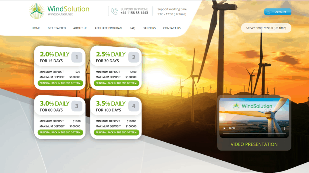 wind solution review 1024x574 - [SCAM] Wind Solution HYIP - Review: Lợi nhuận 2%/ ngày trong 15 ngày!