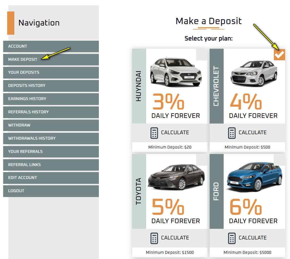 icar digital deposit 1 - [SCAM - DỪNG ĐẦU TƯ] ICar Digital: Dự án kinh doanh cho thuê xe hơi, lãi từ 3% mỗi ngày
