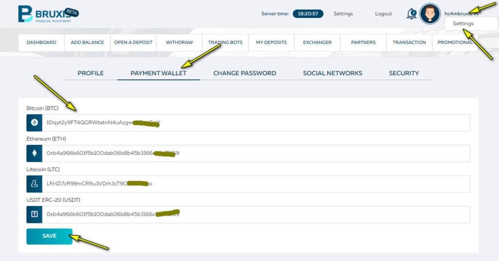 bruxis add wallet 1024x537 - Bruxis là gì? Hướng dẫn đầu tư nhận 30% mỗi tháng cùng Bruxis