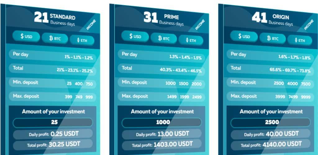 bruxis investment plans 1 1024x498 - Bruxis là gì? Hướng dẫn đầu tư nhận 30% mỗi tháng cùng Bruxis