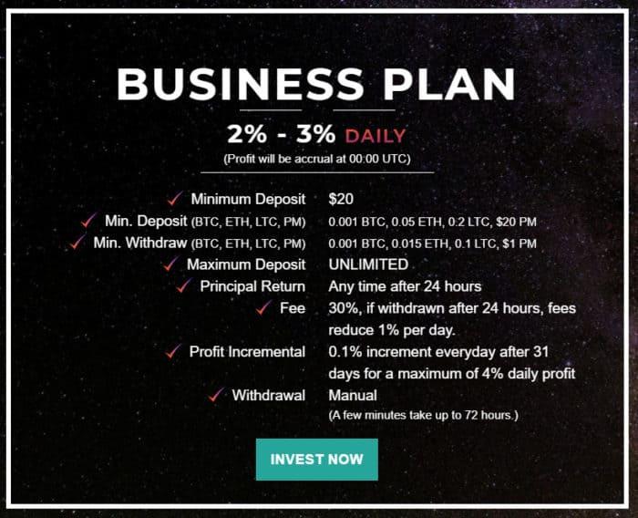 explore galaxy investment plans e1610615705612 - [SCAM - DỪNG ĐẦU TƯ] Explore Galaxy: Lợi nhuận 3% mỗi ngày - mãi mãi. Cho rút vốn miễn phí sau 30 ngày!