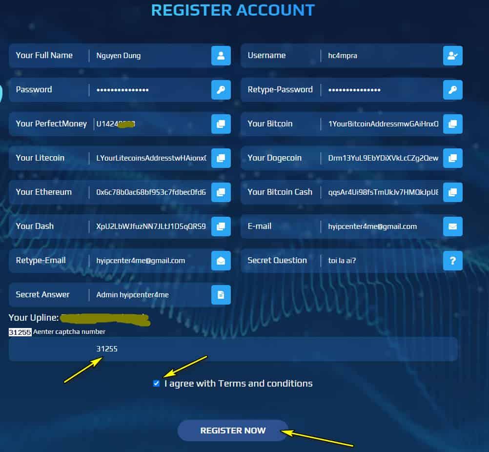 praemcapital register account - [SCAM - DỪNG ĐẦU TƯ] Praem Capital: Lợi nhuận 4% hàng ngày và mãi mãi