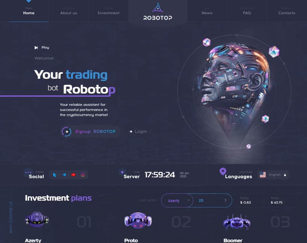 robotop review 1024x811 - [SCAM - DỪNG ĐẦU TƯ] Robotop là gì? Đầu tư cùng trợ lí giao dịch ảo Robotop, lợi nhuận 3% mỗi ngày!