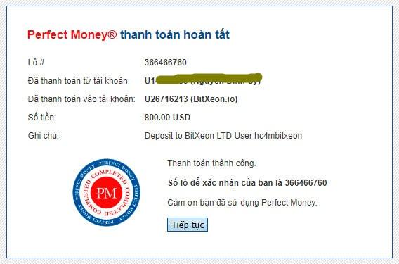 bitxeon payment proof - [SCAM - DỪNG ĐẦU TƯ] BitXeon: Lợi nhuận 3.6% mỗi ngày và mãi mãi