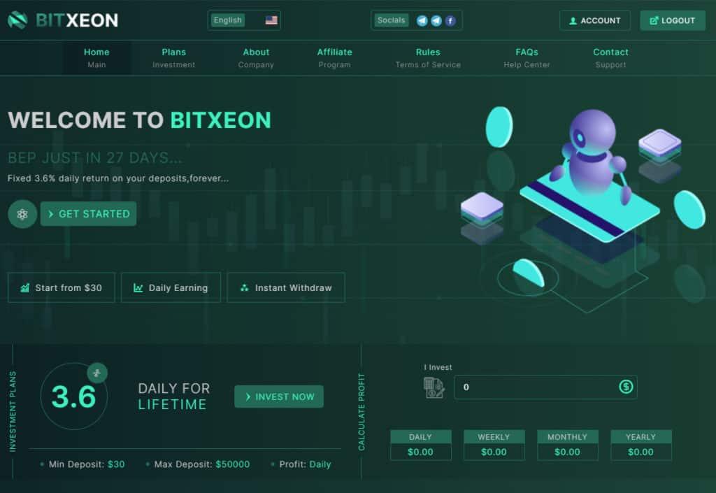 bitxeon review 1024x705 - [SCAM - DỪNG ĐẦU TƯ] BitXeon: Lợi nhuận 3.6% mỗi ngày và mãi mãi