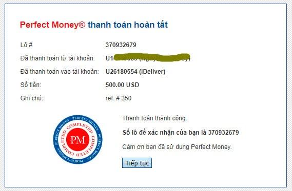 ideliver payment proof - [SCAM - DỪNG ĐẦU TƯ] IDeliver: Lợi nhuận 4%/ngày trong 30 ngày!