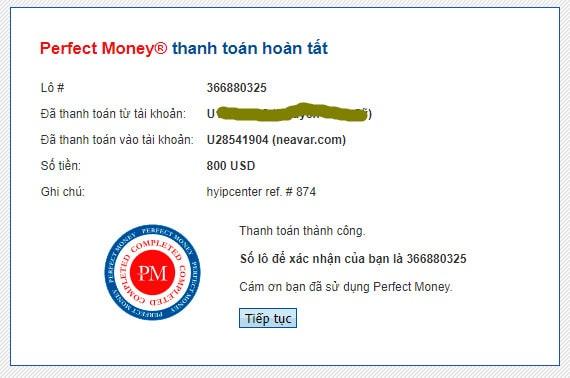neavar payment proof - [SCAM - DỪNG ĐẦU TƯ] Neavar: Lợi nhuận lên tới 4.7% hàng ngày và mãi mãi