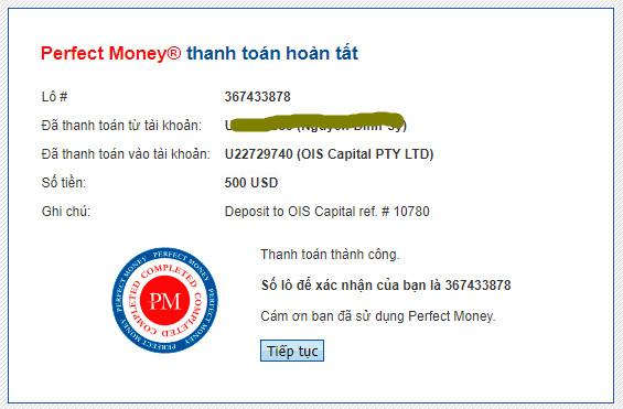 ois capital payment proof - [SCAM - DỪNG ĐẦU TƯ] OIS Capital: Lợi nhuận lên tới 2.7% mỗi ngày trong 15 ngày!