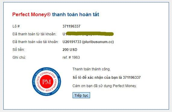 pluribusunum payment proof - [SCAM - DỪNG ĐẦU TƯ] Pluribusunum: Lợi nhuận 1.4%/ ngày trong 14 ngày