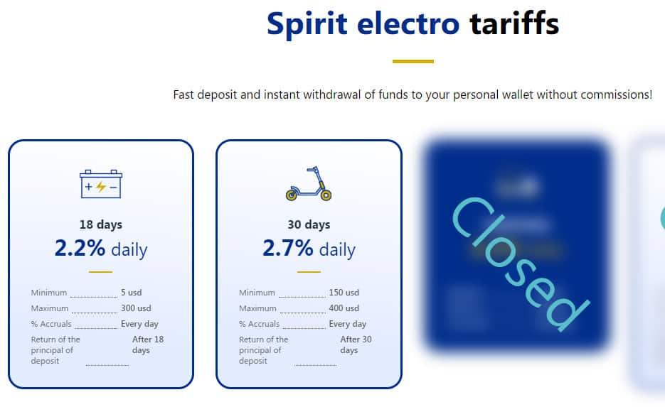 spirit electro investment plans - [SCAM - DỪNG ĐẦU TƯ] Spirit Electro: Dự án sản xuất ắc quy xe hơi, lợi nhuận lên tới 6.6% mỗi ngày!