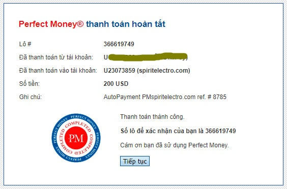 spirit electro payment proof - [SCAM - DỪNG ĐẦU TƯ] Spirit Electro: Dự án sản xuất ắc quy xe hơi, lợi nhuận lên tới 6.6% mỗi ngày!