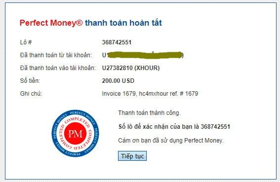 xhour payment - [SCAM - DỪNG ĐẦU TƯ] XHour: Lợi nhuận 3% hàng ngày trong 5 ngày!