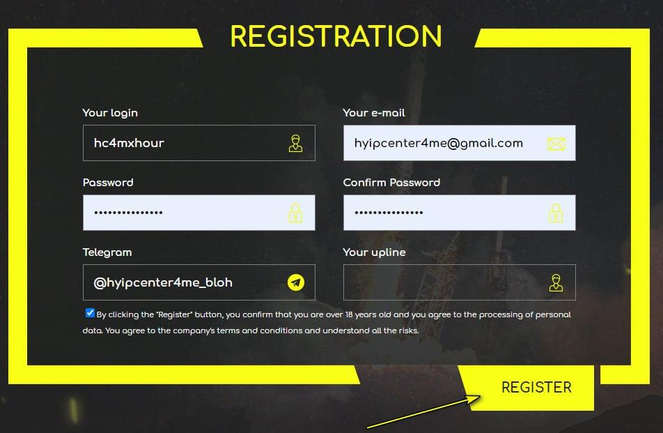 xhour register account - [SCAM - DỪNG ĐẦU TƯ] XHour: Lợi nhuận 3% hàng ngày trong 5 ngày!