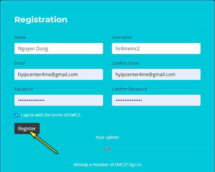 ecm2 capital register account - [SCAM - DỪNG ĐẦU TƯ] EMC2 Capital: Lợi nhuận 3% hàng ngày - mãi mãi