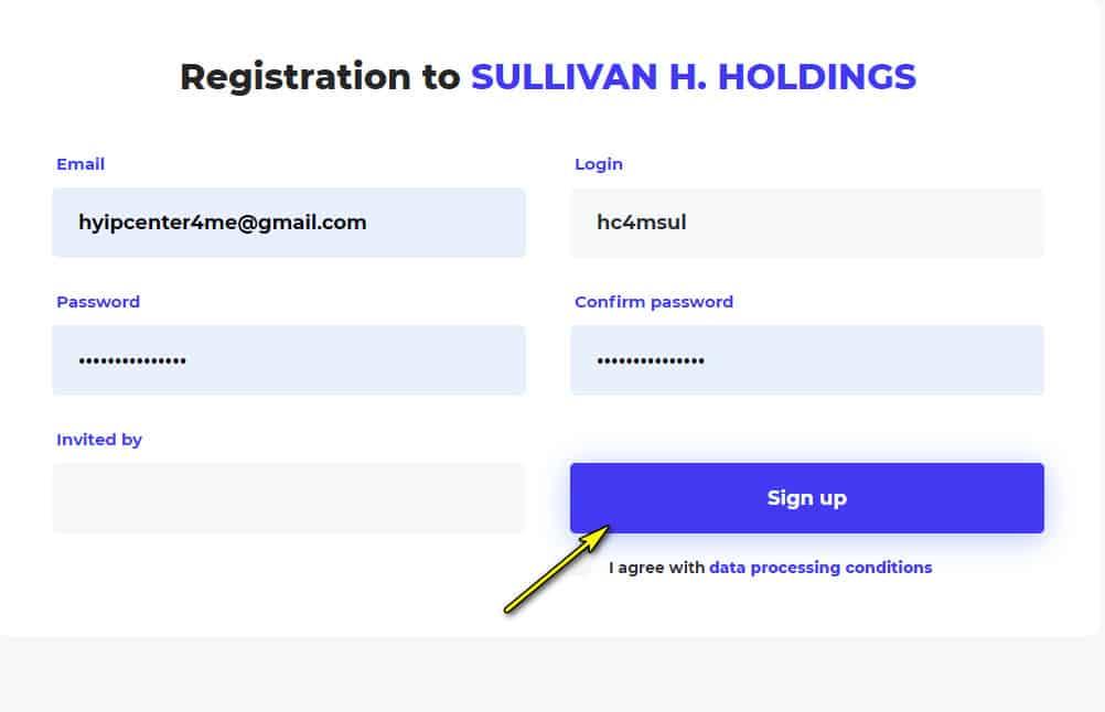 sullivan holding register account - [SCAM - DỪNG ĐẦU TƯ] Sullivan Holding LLC: dự án đầu tư hấp dẫn, lợi nhuận lên tới 30%/ tháng!