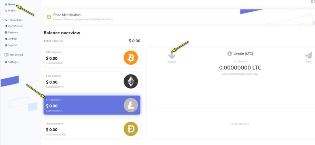 walletex deposit 1024x473 - [SCAM - DỪNG ĐẦU TƯ] Walletex là gì? Hướng dẫn kiếm tiền cùng ví điện tử Walletex